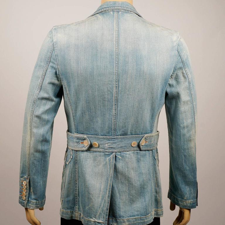 Tom Ford for Gucci Distressed Tailored Denim Jacket 4