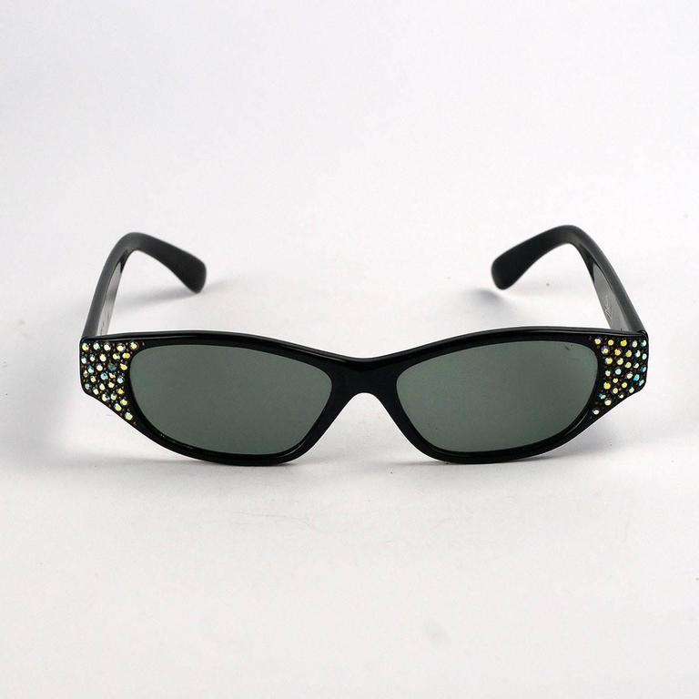 a95d5f68c0622 Vintage Claudia L Rhinestone Cat Eye Sunglasses For Sale at 1stdibs