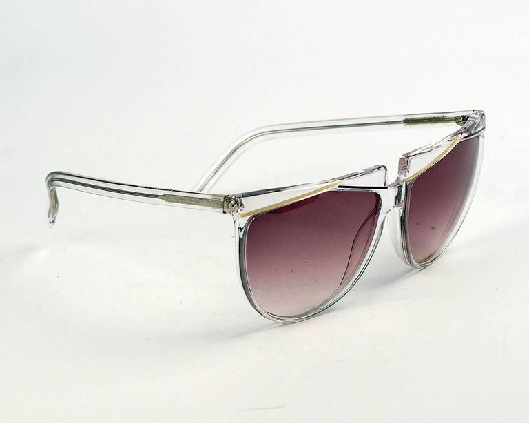 Brown Verses (Versace) Clear Frame Sunglasses For Sale