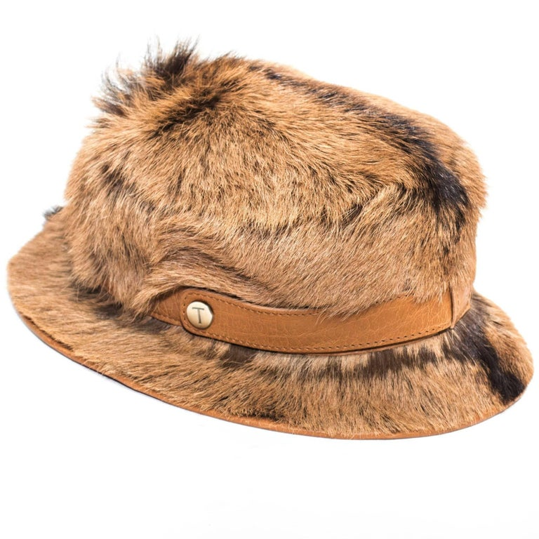 Tod's Large Goat Fur Bucket Hat For Sale