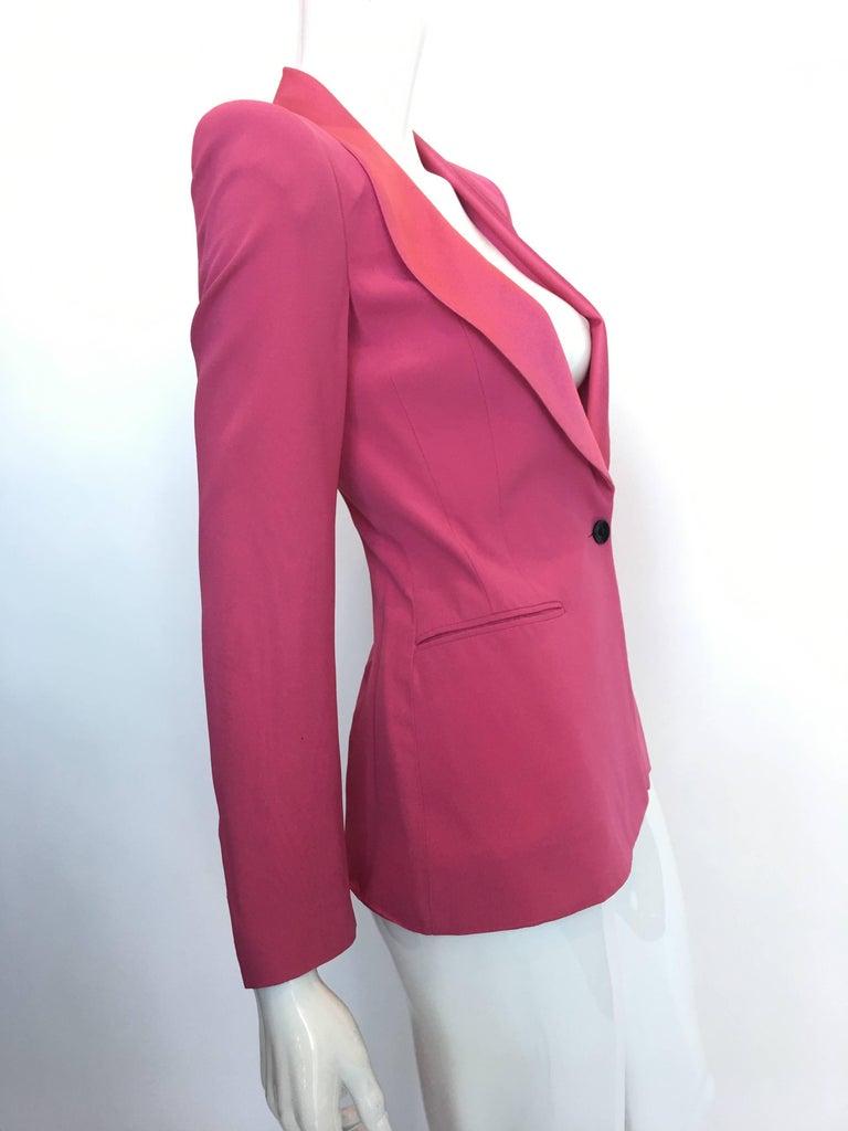 Bella Frued Pink Tux Style Jacket 4