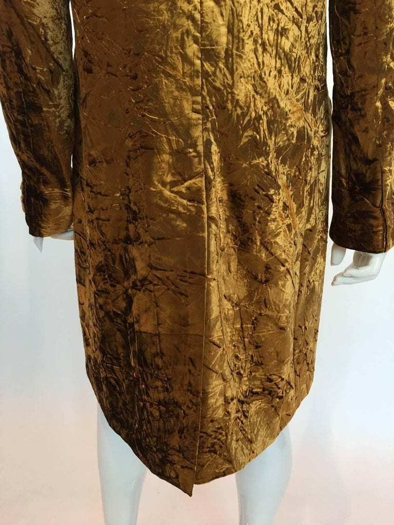 ETRO Contemporary Gold Crushed Velvet Jacket In Good Condition For Sale In Los Angeles, CA