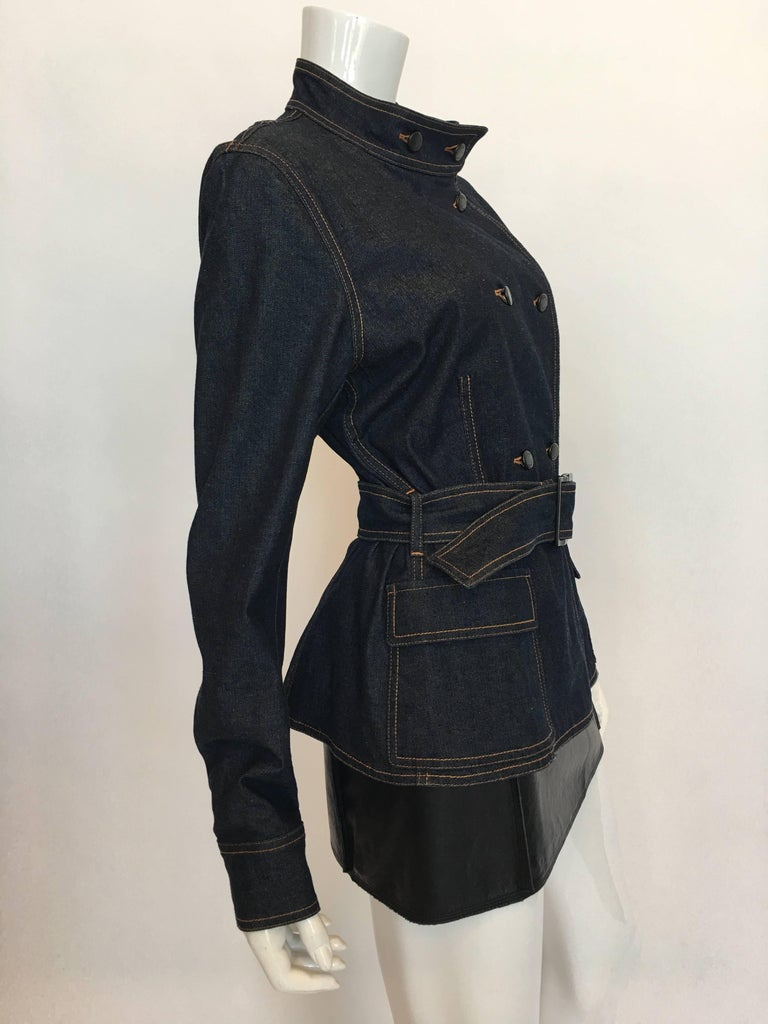 Yves Saint Laurent Denim Jacket, 1990s   In Good Condition For Sale In Los Angeles, CA