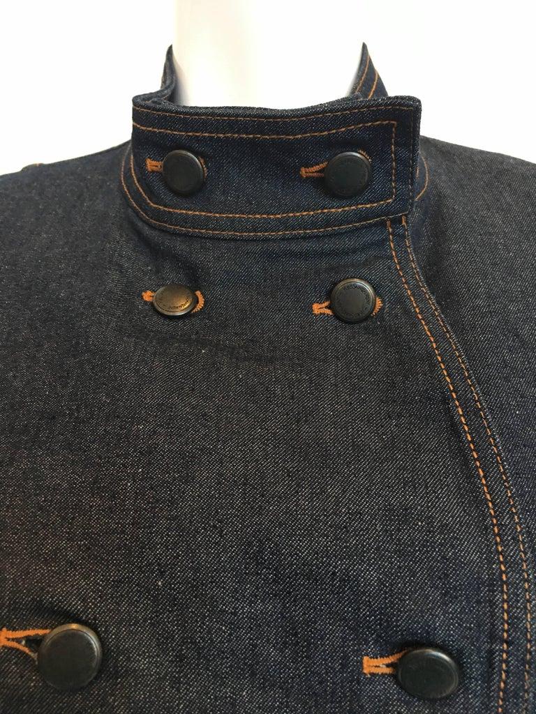 Women's or Men's Yves Saint Laurent Denim Jacket, 1990s   For Sale