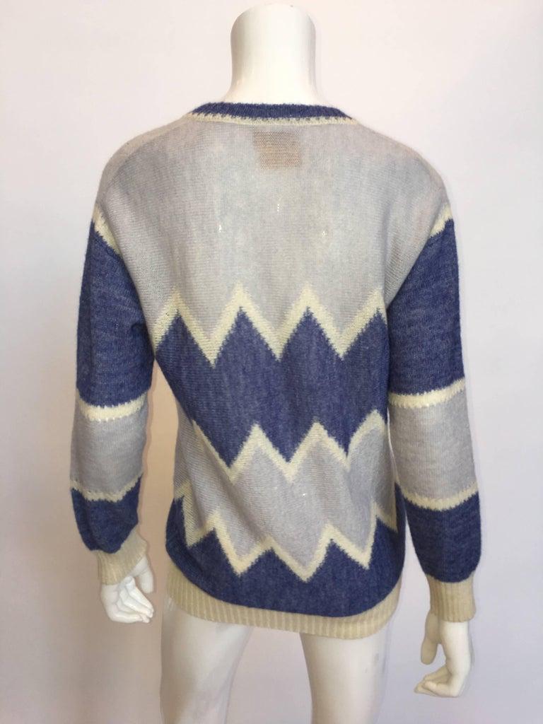 Women's or Men's Courrèges Paris 1970's Mohair Sweater For Sale