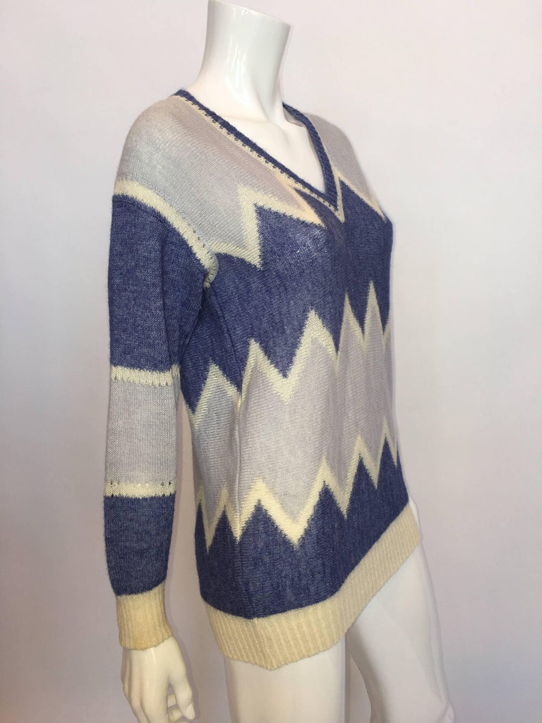 Courrèges Paris 1970's Mohair Sweater In Good Condition For Sale In Los Angeles, CA