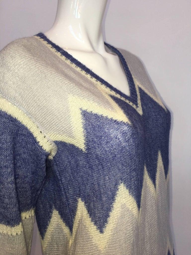 Gray Courrèges Paris 1970's Mohair Sweater For Sale