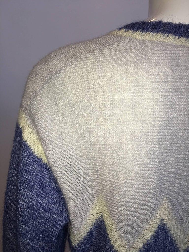 Courrèges Paris 1970's Mohair Sweater For Sale 1