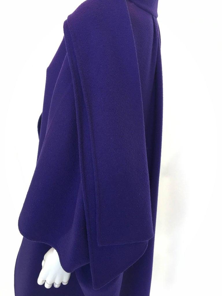 Women's or Men's Ferragamo Purple Wool Cape Style Coat For Sale