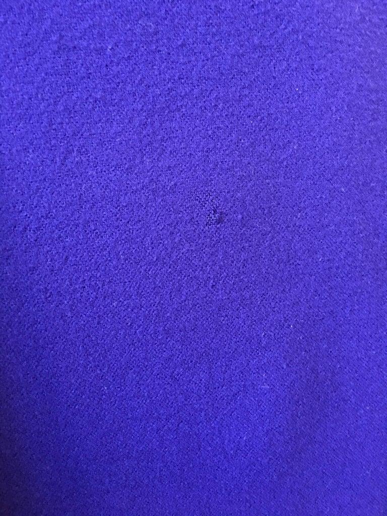 Ferragamo Purple Wool Cape Style Coat For Sale 4