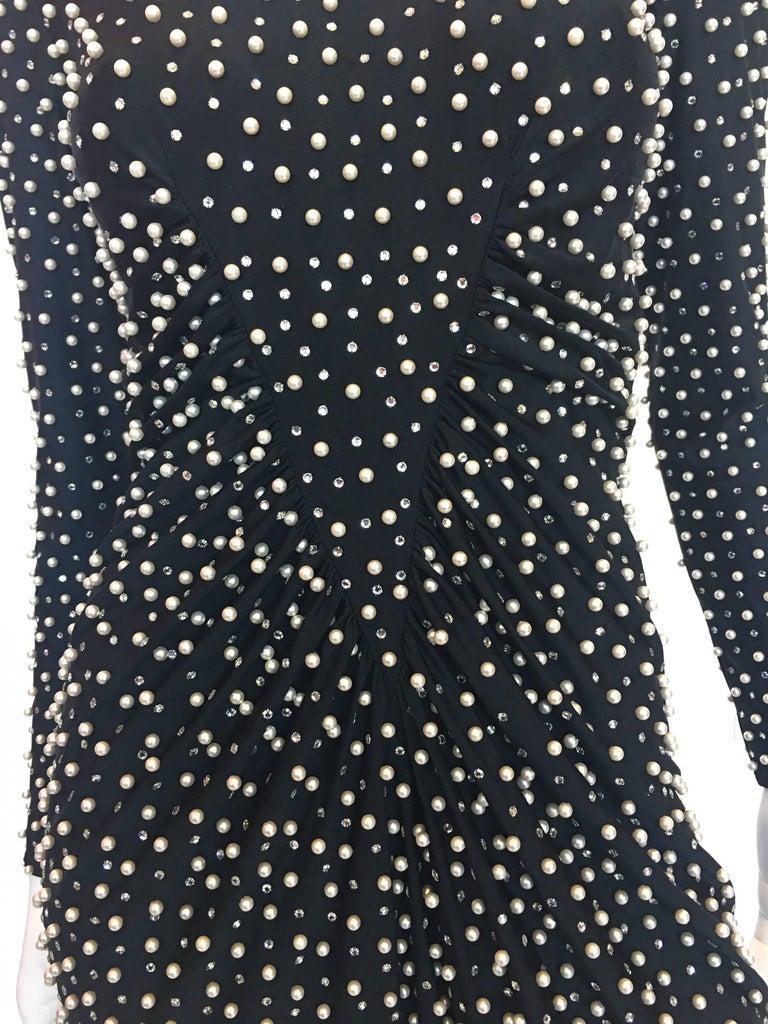Women's or Men's Lillie Rubin Pearl Encrusted Dress, 1980s  For Sale