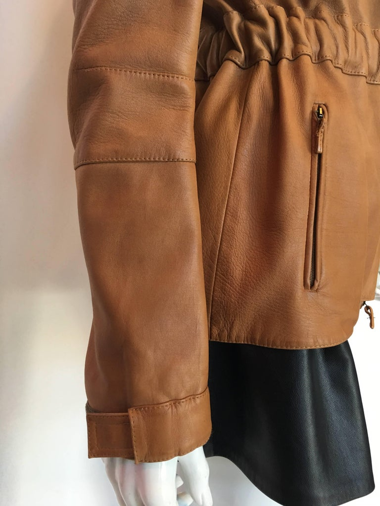 Burberry Possum Camel Colored Leather Jacket 4