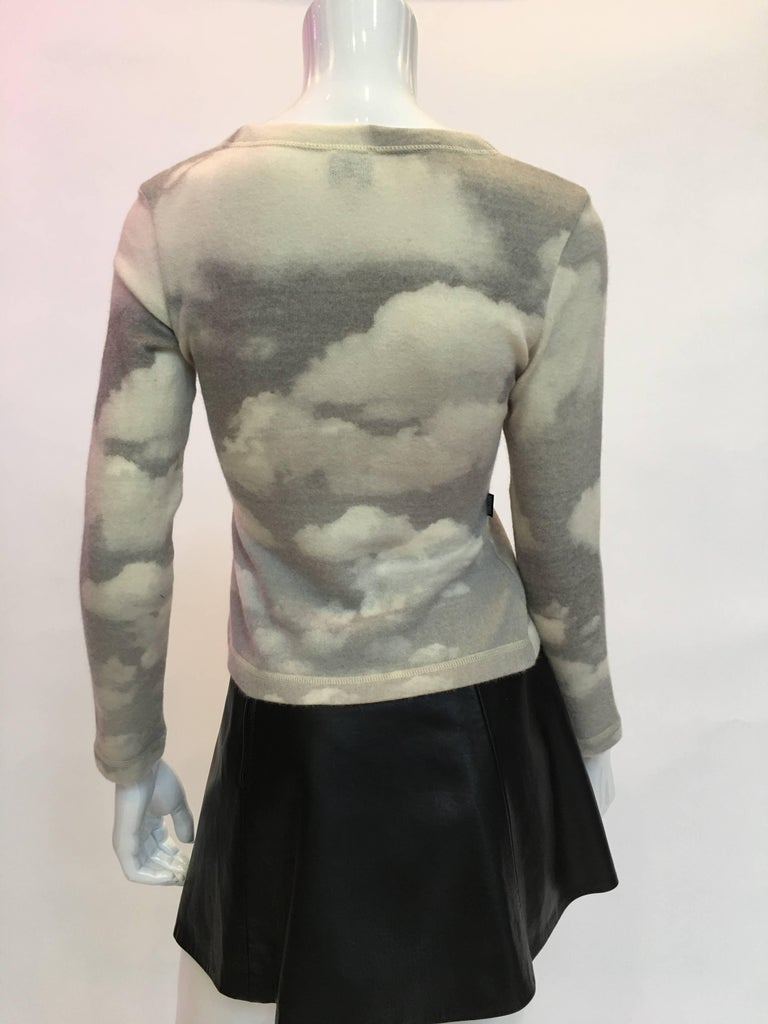 Moschino Wool Cloud Sweater, 1990s  In Good Condition For Sale In Los Angeles, CA