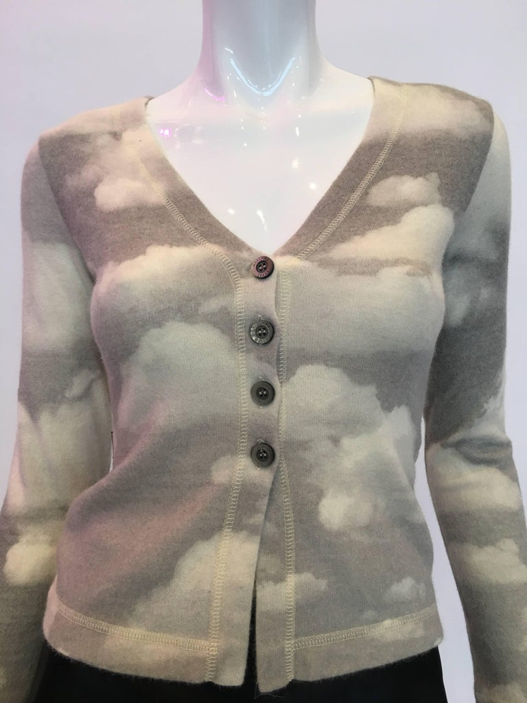 Gray Moschino Wool Cloud Sweater, 1990s  For Sale