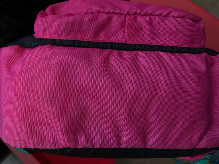 Chopard Genève Pink Nylon Backpack with Battery Operated Clock  8