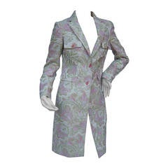 Etro Milano Paisley Floral Pink & Green Coat Size 40