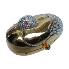 Opulent Jeweled Gilt Metal Bird Evening Bag