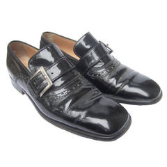 Dolce & Gabbana Men's Black Patent Leather Shoes US Size 8