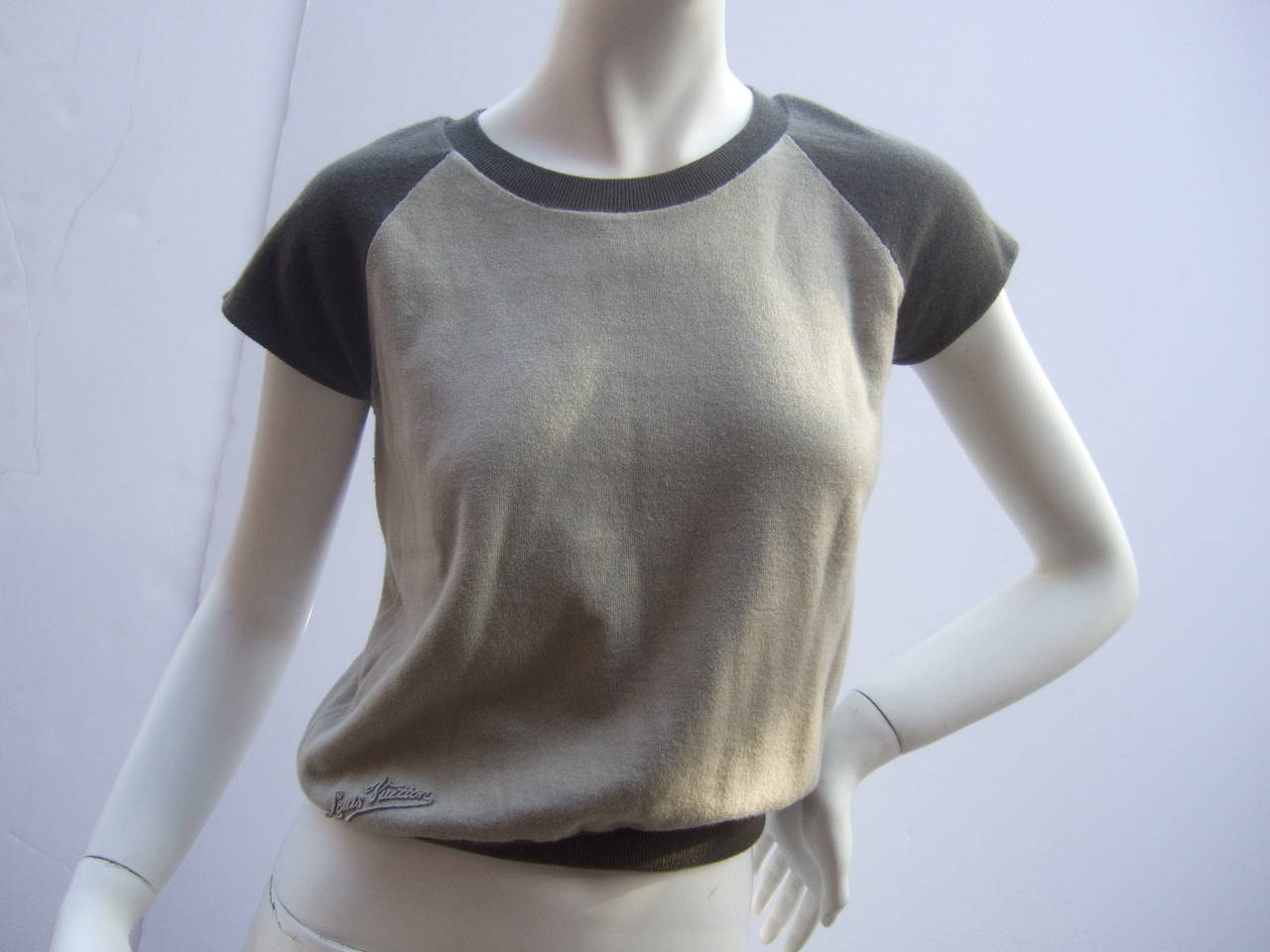 Louis Vuitton Cashmere & Cotton Knit Top Made in Italy Size M 5