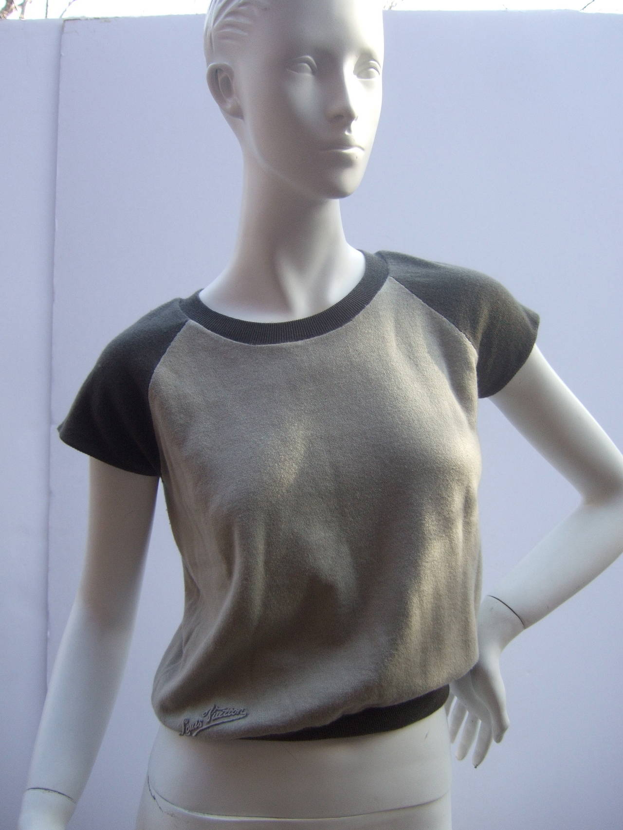 Louis Vuitton Cashmere & Cotton Knit Top Made in Italy Size M 2