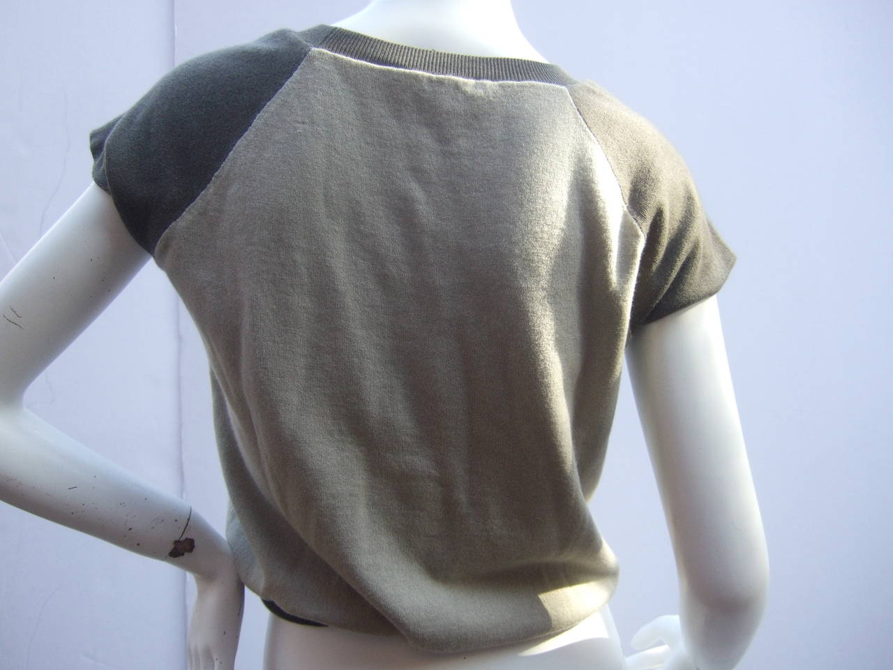 Louis Vuitton Cashmere & Cotton Knit Top Made in Italy Size M 6