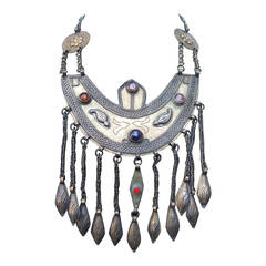 Massive Egyptian Revival Style Jeweled Serpent Ceremonial Necklace