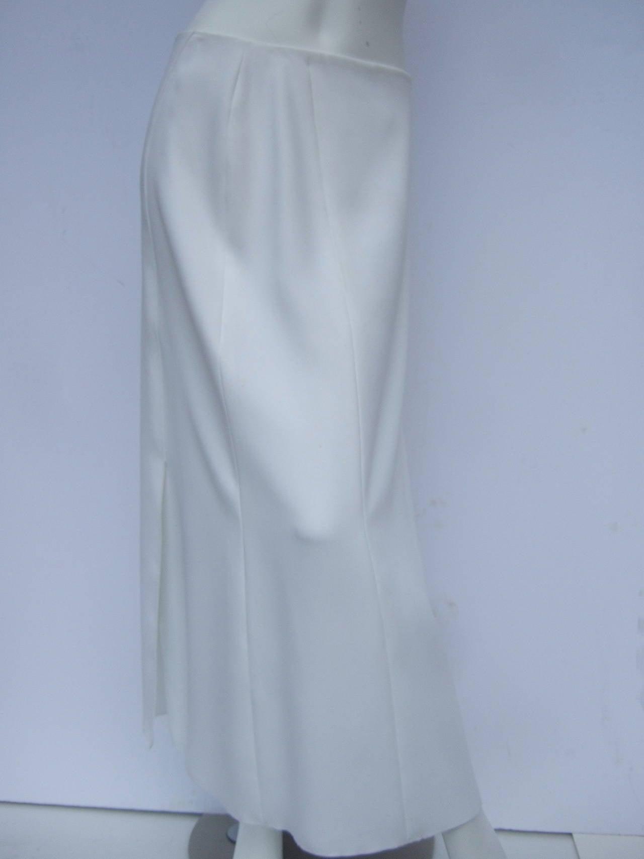 Chanel Elegant Chic Long White Skirt Size 40 2