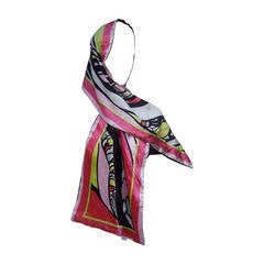 Emilio Pucci Luxurious Velvet Print Oblong Scarf Made in Italy