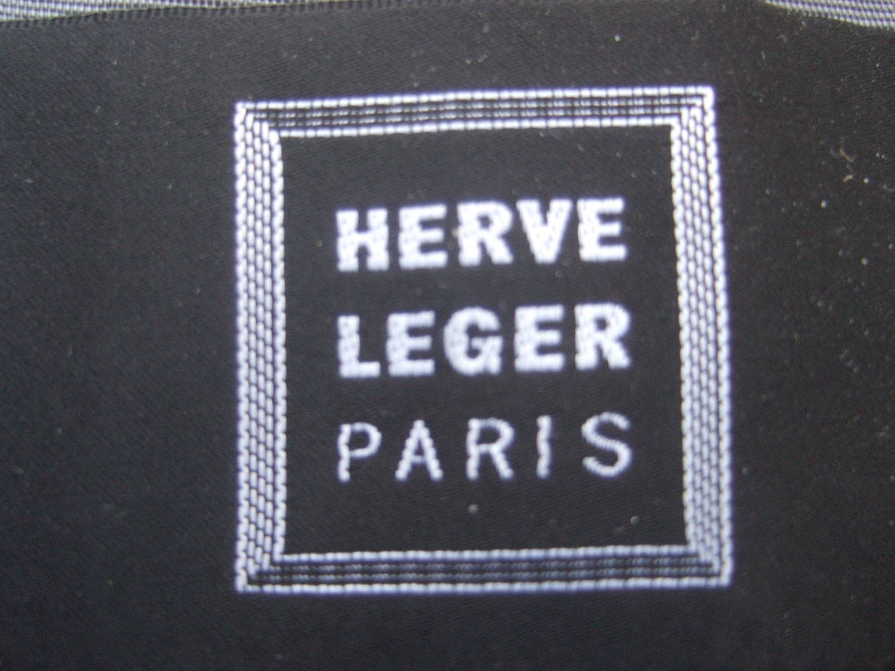 Herve Leger Paris Gray wool tailored jacket US Size 4 For Sale 3