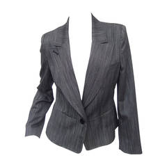 Herve Leger Paris Gray wool tailored jacket US Size 4