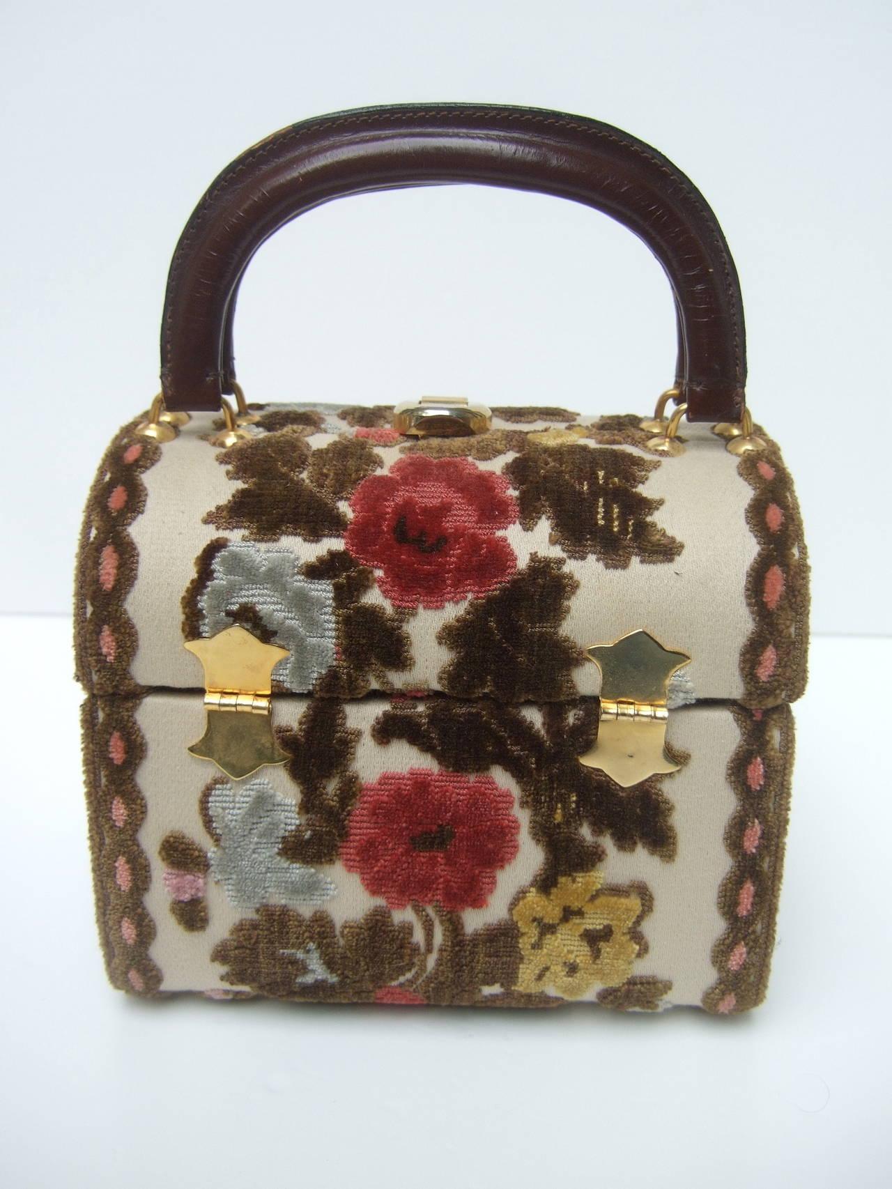 Brocade Box Style Handbag Designed By Tano Of Madrid C