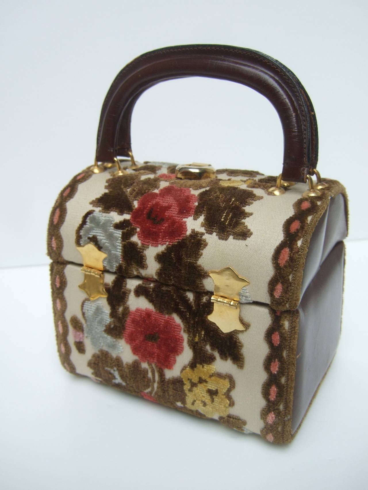 Brocade Box Style Handbag Designed By Tano Of Madrid C