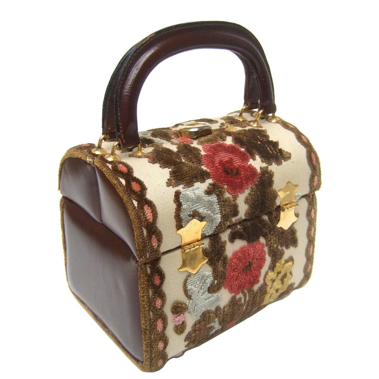 f2e6baac4872 Brocade Box Style Handbag Designed by Tano of Madrid c 1970 at 1stdibs