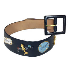 Delightful 1950's Fashion Themed Hand Painted Belt.