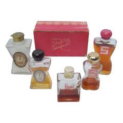Schiaparelli Collection of Vintage Perfume Bottles c 1950s
