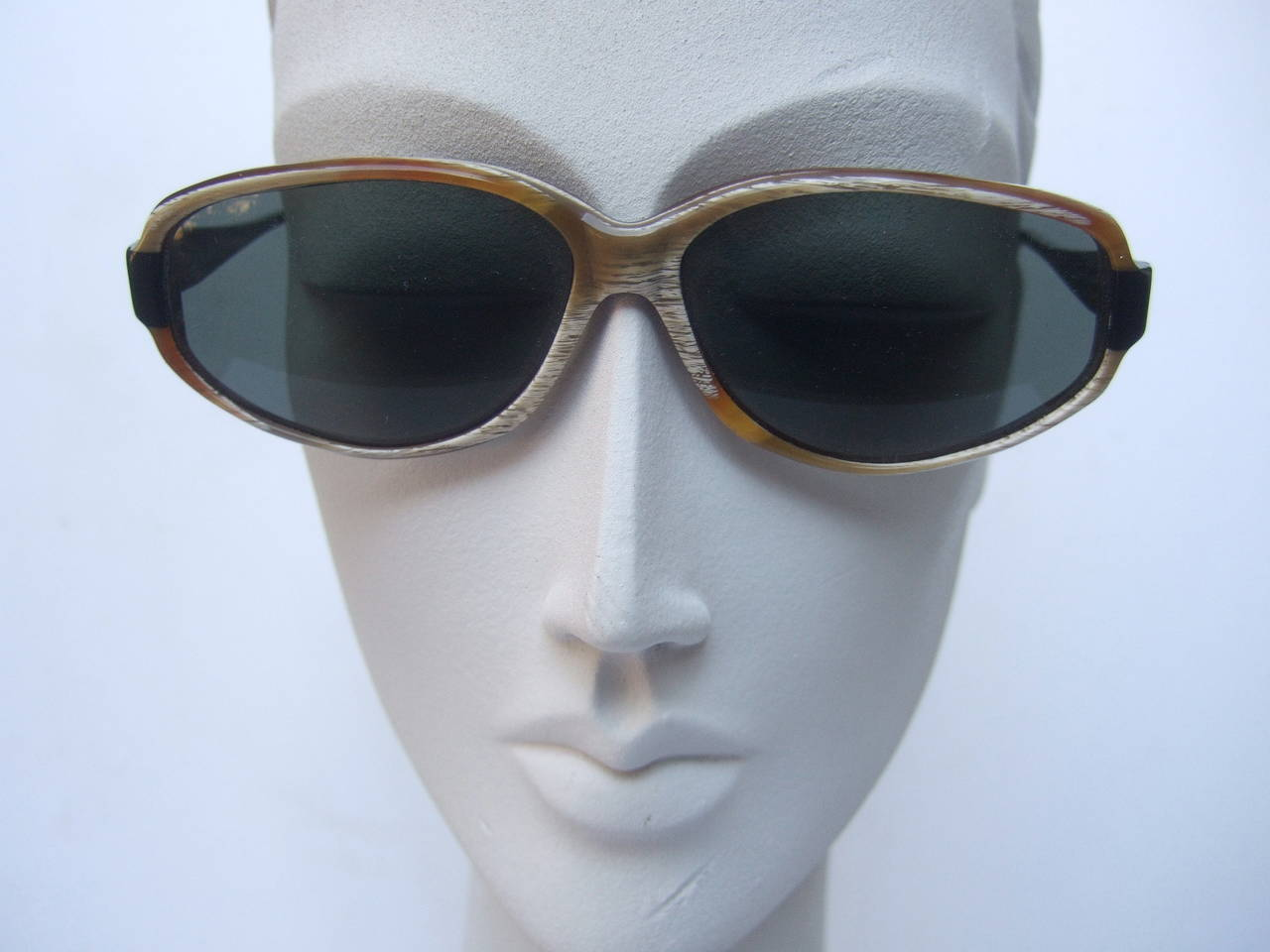 Black Jean Patou Paris Stylish Sunglasses Made in France For Sale
