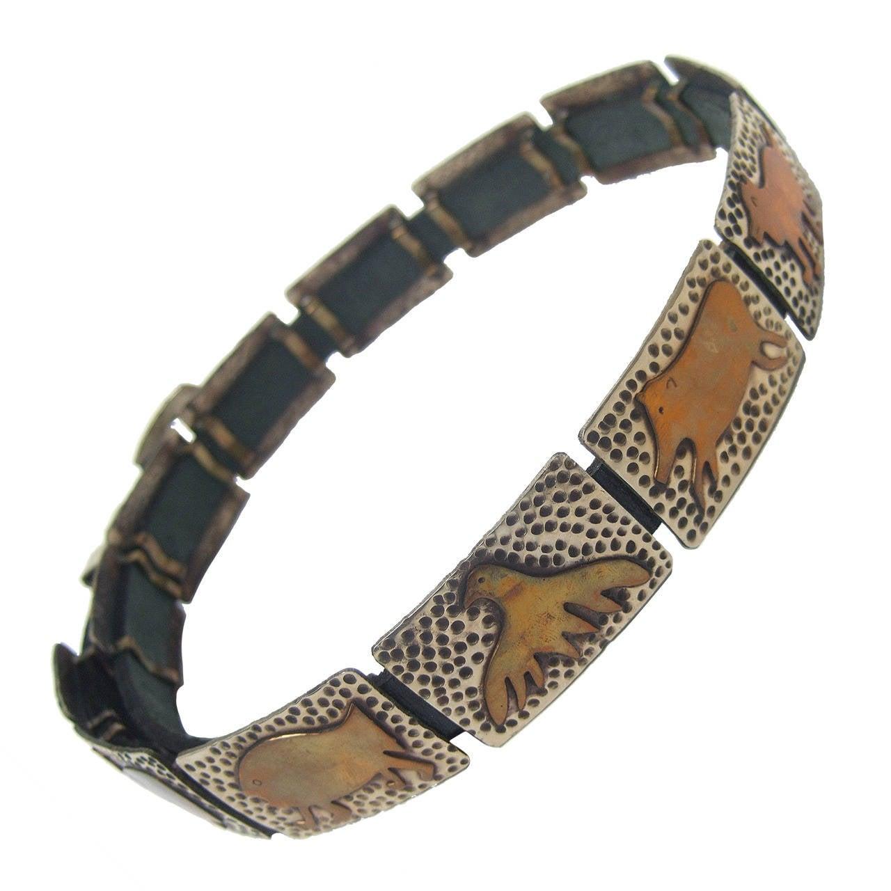 Hand Forged Mixed Metal Artisan Animal Belt Designed by Lunacy Alpaca