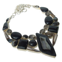 Sterling Stone Artisan Statement Necklace