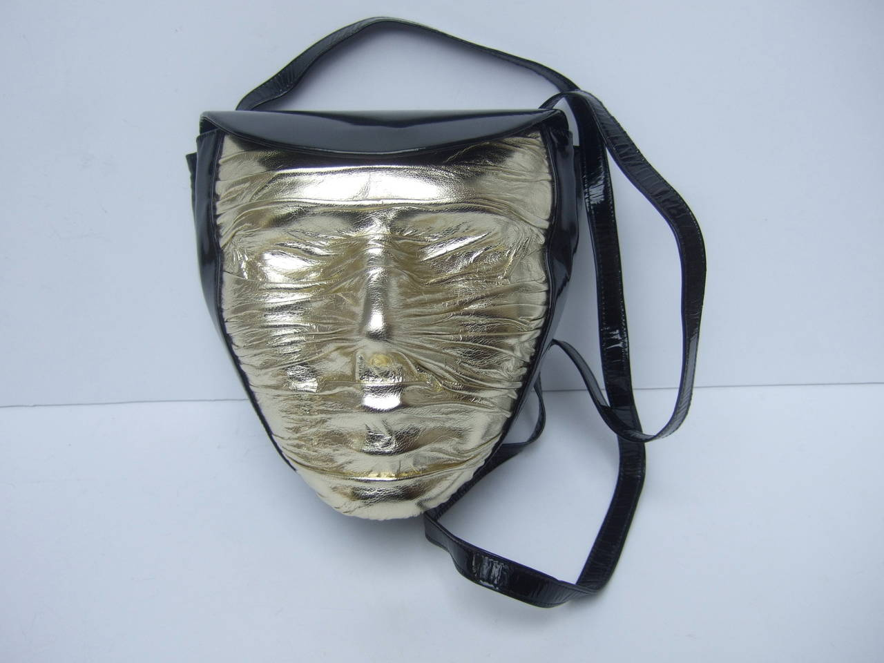 Charles Jourdan Paris Avant-garde mummy handbag c 1980s
