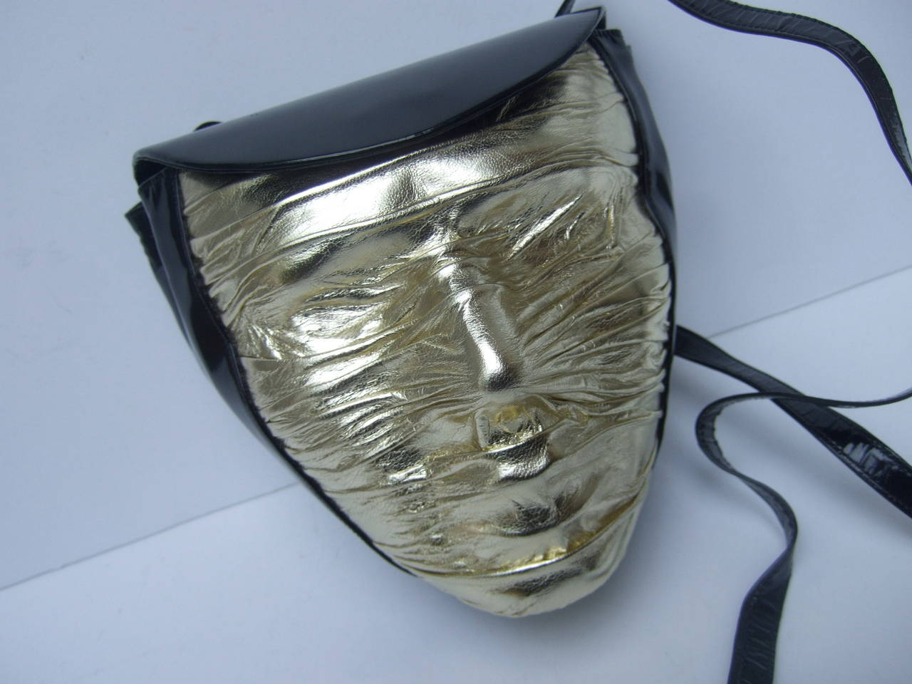 Gray Charles Jourdan Paris Avant-Garde Mummified Handbag c 1980s For Sale