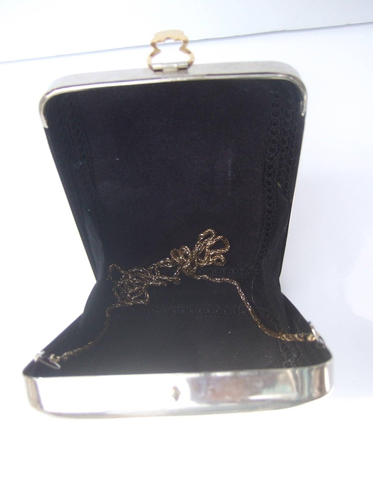 Unique Figural Metal Woman Evening Bag c 1980 For Sale 2