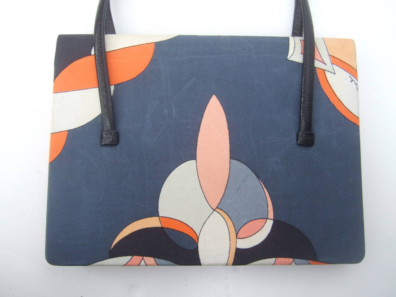 Emilio Pucci Italy Silk Diminutive Envelope Style Handbag c 1970 For Sale 4
