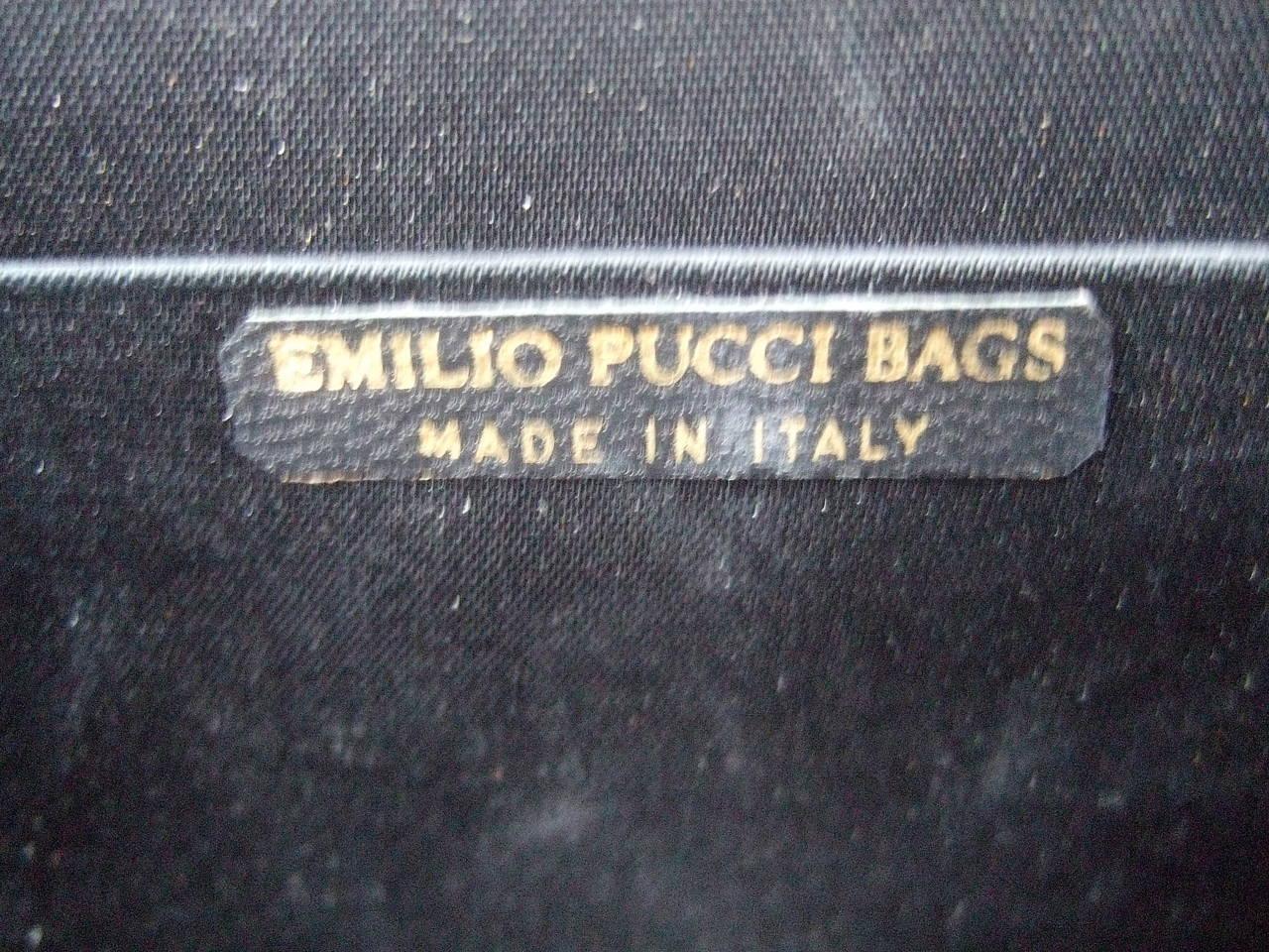 Emilio Pucci Italy Silk Diminutive Envelope Style Handbag c 1970 For Sale 2