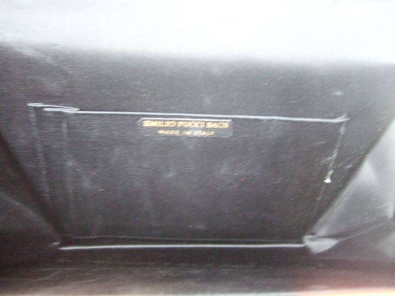 Emilio Pucci Italy Silk Diminutive Envelope Style Handbag c 1970 For Sale 5