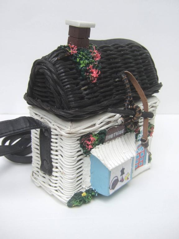 Timmy Wood S Beverly Hills Charming Wicker House Purse For