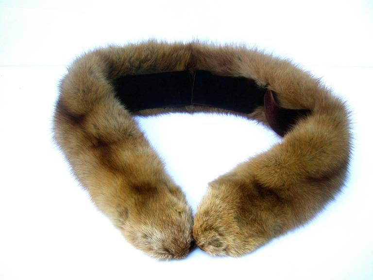 Luxurious Plush Sable Fur Collar ca 1960s  For Sale 2