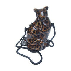 Sleek Wood Panther Artisan Handbag Designed by Timmy Woods Beverly Hills