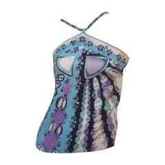 Emilio Pucci Pastel Silk Camisole Top for Saks Fifth Avenue c 1970