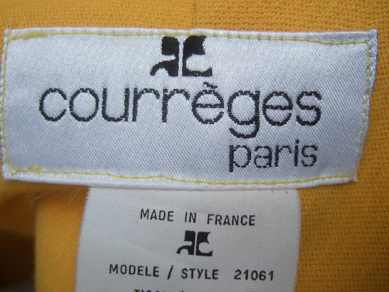 Courreges Paris Mod Wool Vest & Skirt Ensemble c 1970 10