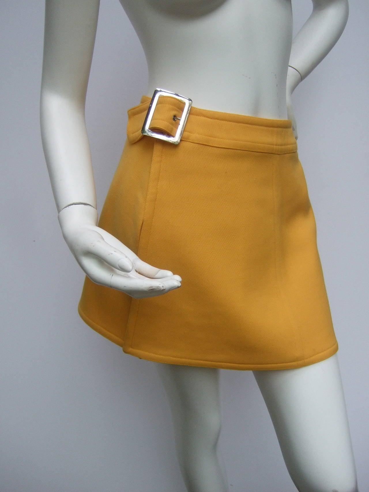 Courreges Paris Mod Wool Vest & Skirt Ensemble c 1970 9